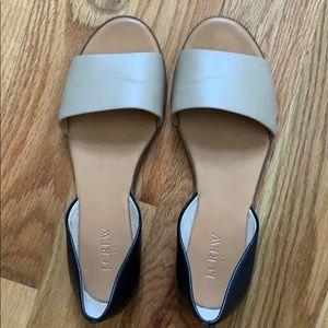 J. CREW open toe sandals